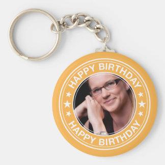 Alles Gute zum GeburtstagBilderrahmen im Gelb Schlüsselanhänger