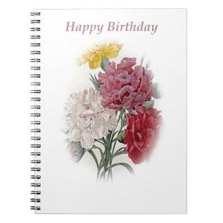 Alles- Gute zum Geburtstagblumenstrauß Notizblock
