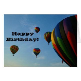 Alles- Gute zum Geburtstagbunte Ballon-Karte Karte