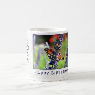 Alles- Gute zum Geburtstagchef-Blumenschmetterling Tasse
