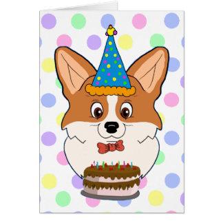 Alles Gute zum Geburtstagcorgi-Cartoon Karte