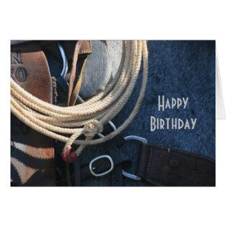 Alles- Gute zum Geburtstagcowboy/Cowgirl Grußkarte