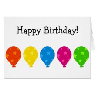 Alles- Gute zum Geburtstagkarte: Ballone mit Karte