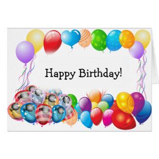 Alles- Gute zum Geburtstagkarte mit Ballon-Rahmen Karte