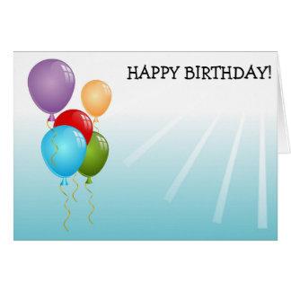 Alles- Gute zum Geburtstagkarte: Sun und Ballone Karte