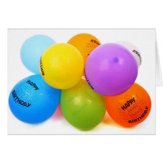 Alles- Gute zum Geburtstagkarte und Ballone Karte