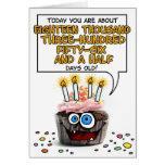 Alles- Gute zum Geburtstagkleiner kuchen - 50 Grußkarte