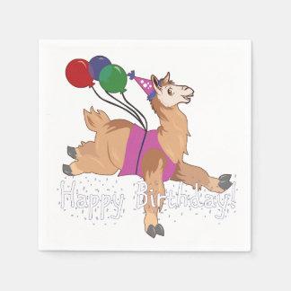 Alles- Gute zum Geburtstaglama! Servietten