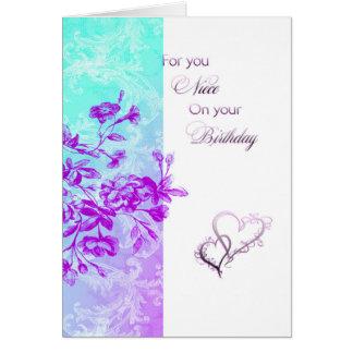 Alles- Gute zum Geburtstagnichte (lila) Karte