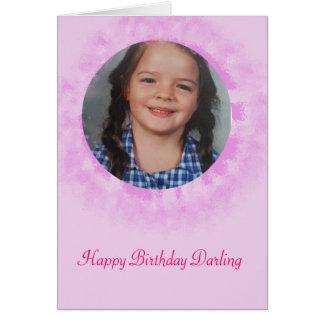 Alles- Gute zum Geburtstagrosa-Gewohnheits-Foto Karte