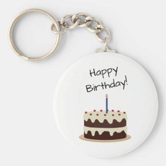 Alles- Gute zum Geburtstagschokolade und Schlüsselanhänger