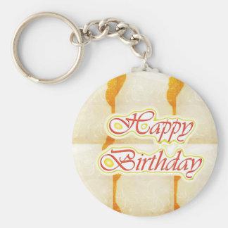 Alles- Gute zum Geburtstagskript: SAFRAN reiner Schlüsselanhänger