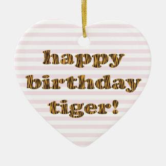 Alles Gute zum Geburtstagtiger! Spaß-Tiger-Druck Keramik Ornament