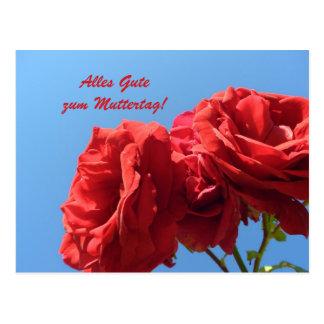 Alles Gute zum Muttertagmit Rosa rosen Postkarte