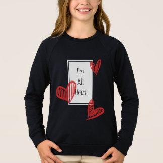 Alles Herz gekritzelt mit Anmerkung Sweatshirt