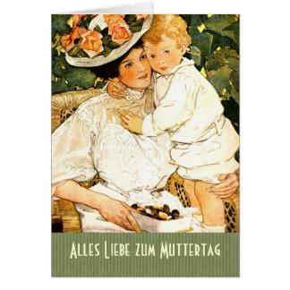 Alles Liebe zum Muttertag. Deutsche Gruß-Karte Grußkarte