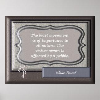 Alles Natur ~ Blaise Pascal-Zitat - Druck Poster