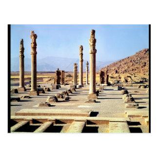 Allgemeine Ansicht des Apadana gründete c.518 BC Postkarte