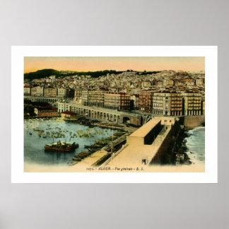 Allgemeine Ansicht Vintage 1900s Algiers Poster