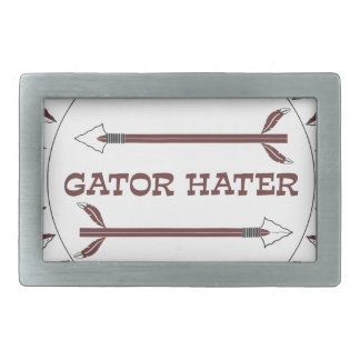 Alligator-Hasser-est-Granat Rechteckige Gürtelschnallen