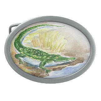 Alligatorgürtelschnalle Ovale Gürtelschnallen