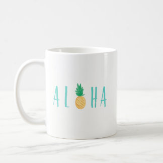 Aloha Ananas-tropische Kaffee-Tasse Tasse