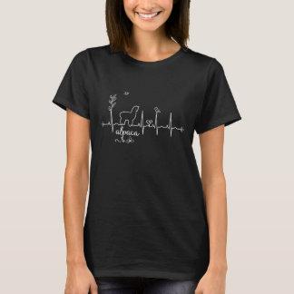Alpaka-Herzschlag-T - Shirt für Frauen u. Mädchen