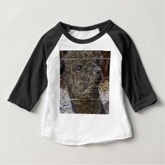 Alpaka Portrait Baby T-shirt