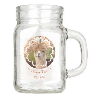 Alpaka-Schönheits-Jahrestags-Maurer-Glas-Tasse Einmachglas