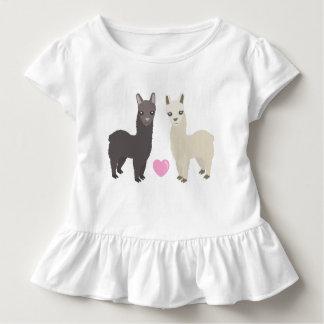 Alpakas und Herz Kleinkind T-shirt