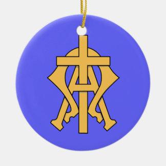 Alpha u. Omega-Weihnachtsbaum Verzierung Keramik Ornament