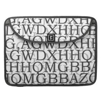 Alphabet Macbook Prohülsen Sleeve Für MacBooks