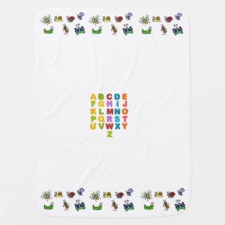 Alphabet und Garten-Insekten-Baby-Decke Puckdecke