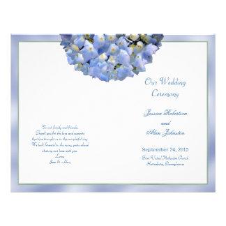 AlphaHydrangea gefaltete Wedding Flyer