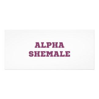 AlphaShemale Individuelle Werbe Karte