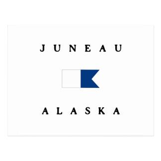Alphatauchen-Flagge Juneau Alaska Postkarte