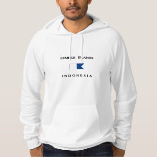 Alphatauchen-Flagge Lembeh Insel-Indonesiens Hoodie