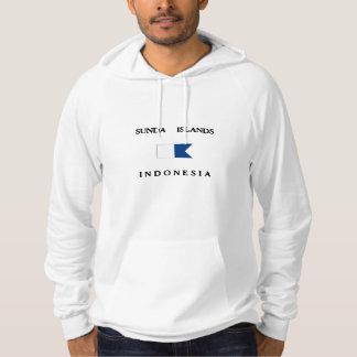 Alphatauchen-Flagge Sunda Insel-Indonesiens Hoodie