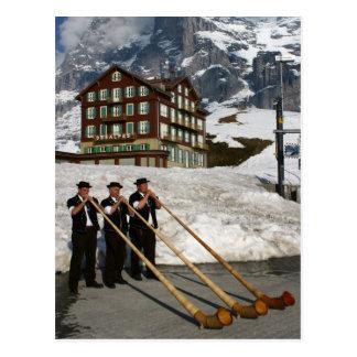 Alphorn Musiker in Kleine Scheidegg die Schweiz Postkarte