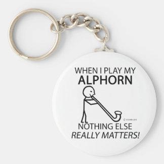Alphorn nichts anderes ist von Bedeutung Standard Runder Schlüsselanhänger