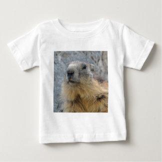 Alpines Murmeltier der Nahaufnahme Baby T-shirt