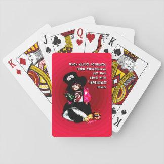 """""""Als Alice"""" durch Aleta zurückkam Spielkarten"""