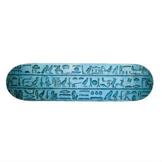 Alte ägyptische Hieroglyphen blau 19,7 Cm Skateboard Deck