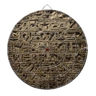 alte ägyptische Hieroglyphen Dartscheibe
