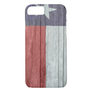 Alte Antike verblaßte hölzerne Texas-Flagge iPhone 7 Hülle