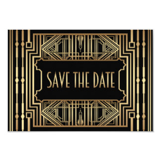 Alte Art Hollywood Gatsby, die Save the Date 8,9 X 12,7 Cm Einladungskarte