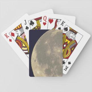 Alte Art-Mond-Foto Spielkarten