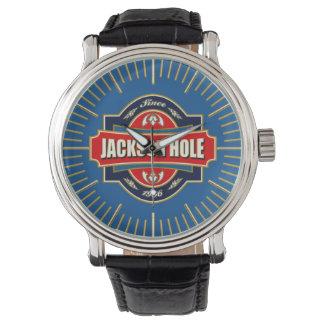 Alte Aufkleber-Uhr Jackson Hole Uhr