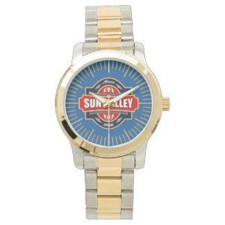 Alte Aufkleber-Uhr Sun Valley Uhr