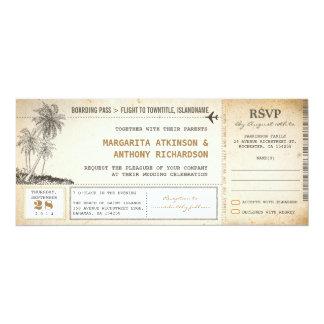 alte Boardingdurchlauf-Flughochzeit lädt mit UAWG 10,2 X 23,5 Cm Einladungskarte
